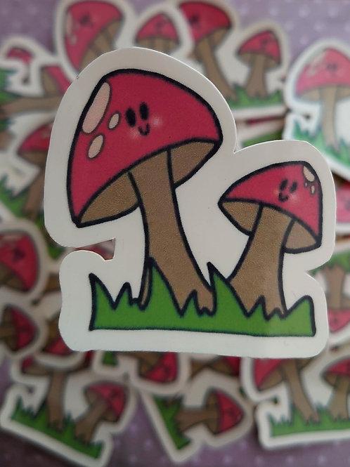 Toadstool - mama & baby sticker (laminated)