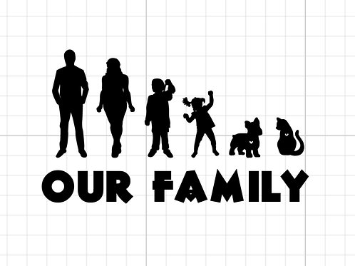 Our family car decal