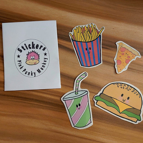 Fast food sticker pack