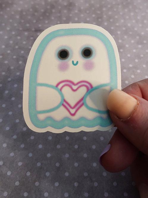 Neon ghost sticker