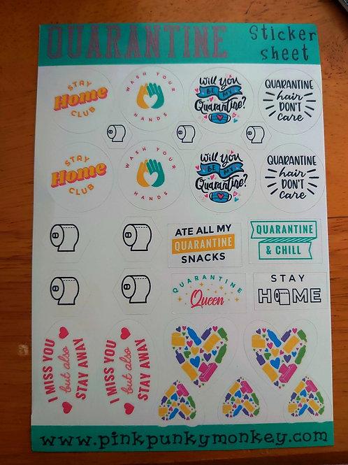 Quarantine Sticker sheet