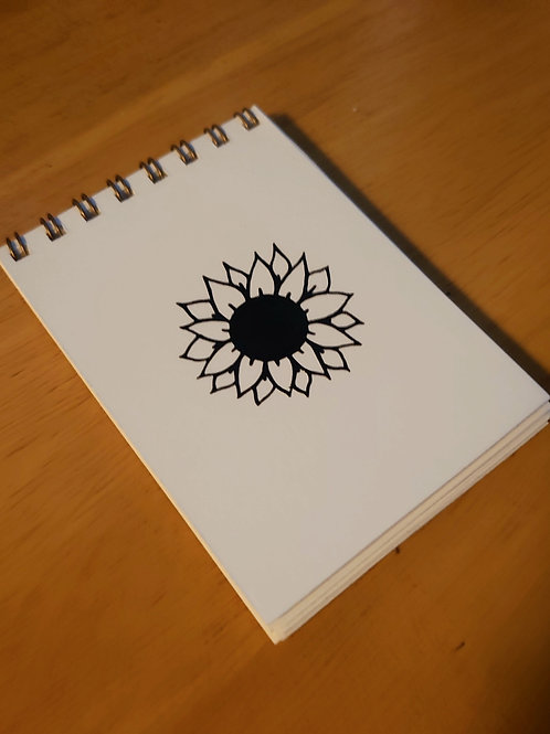 Mini Sunflower flip Notebook