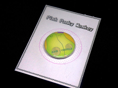 Avo-cuddle pin badge (1 inch)