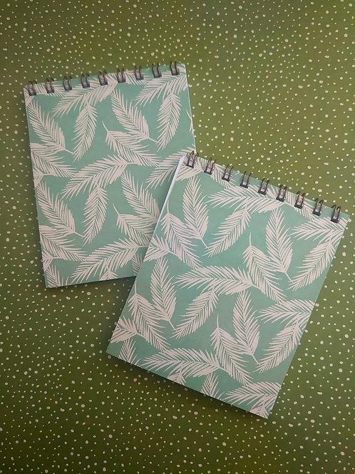 Mini flip Notebook  -Feather