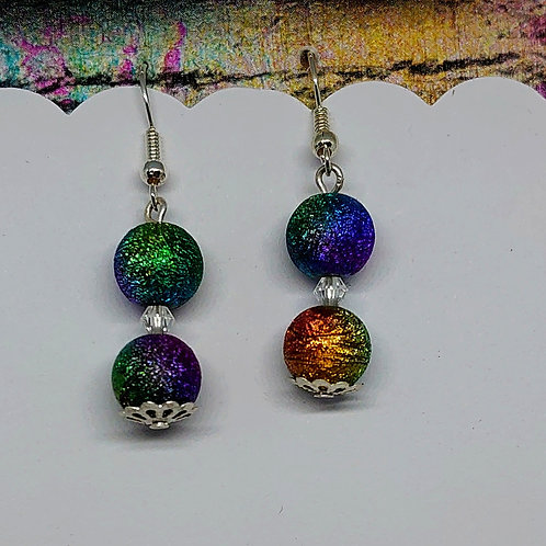 Sparkle Galaxy Earrings (large beads)