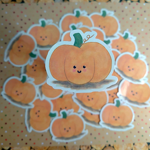 Watercolour Pumpkin sticker