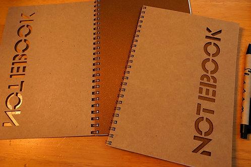 A5 notebook - Cut out NOTEBOOK   design