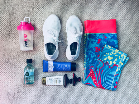 What I keep in my gym bag