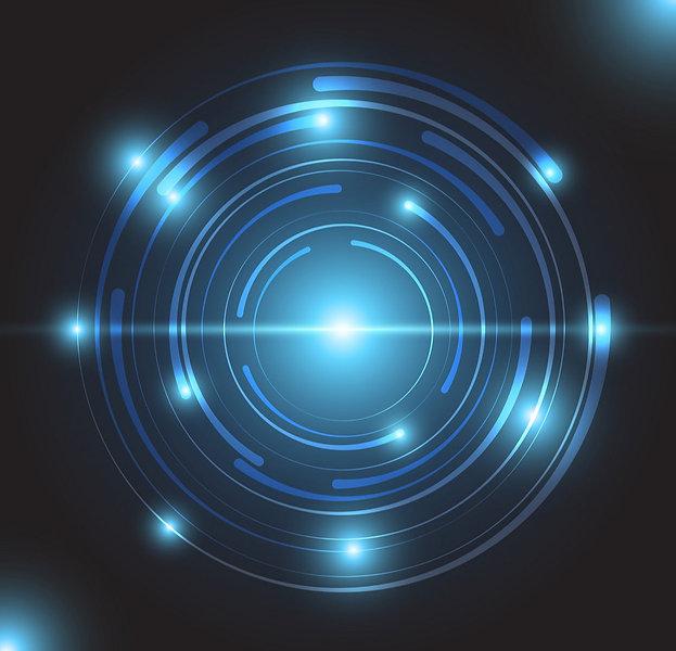 beautiful-blue-glowing-circle-light-vect