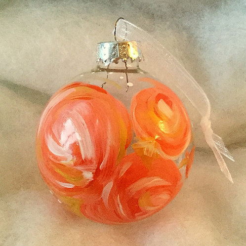 2019 Glass Ornament - Peach I