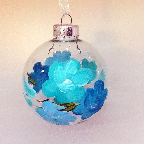 Glass Ornament - Turquoise I