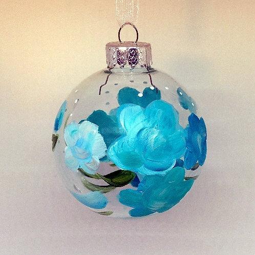 Glass Ornament - Turquoise II