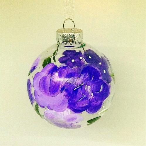 Glass Ornament - Purple II