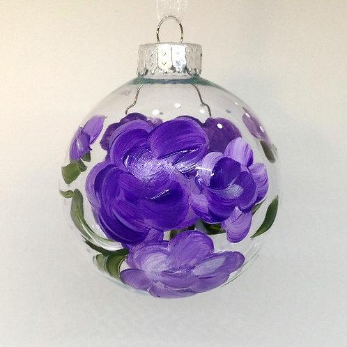 Glass Ornament - Purple I