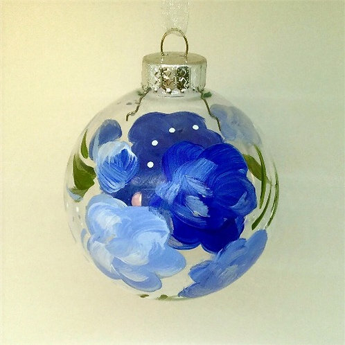 Glass Ornament - Blue I