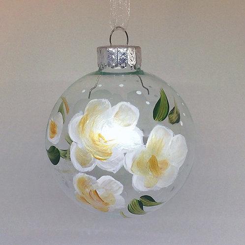 Glass Ornament - White I