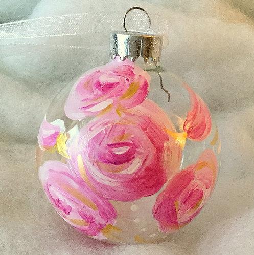 2019 Glass Ornament - Pink I