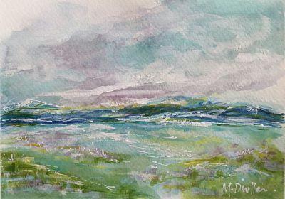 original expressionist landscape watercolor painting