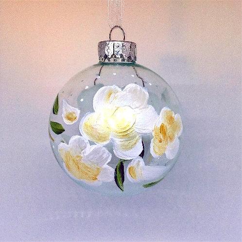 Glass Ornament - White II