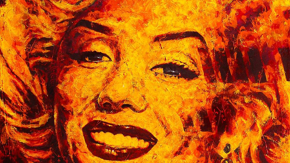 "Obra ""Fire Marilyn #4""  (100x120cm)"