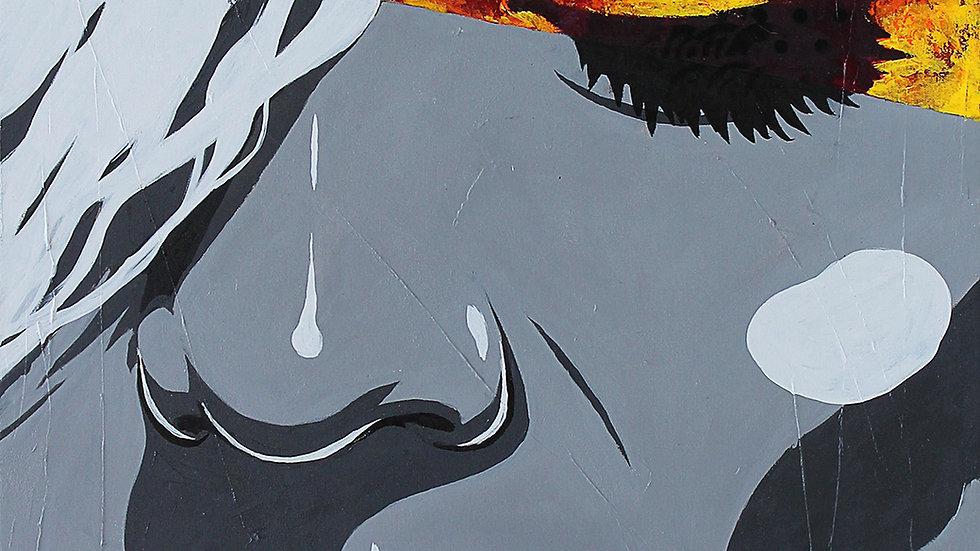 """Obra """"A Parte Que Queima #1"""" (50x70cm)"""