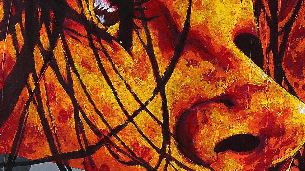 """Obra """"A Parte Que Queima #3"""" (50x70cm)"""