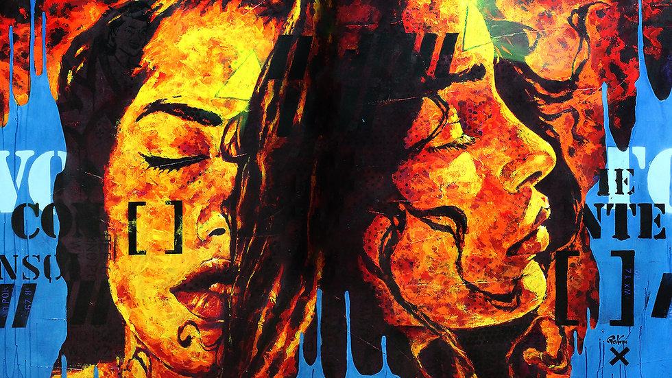 """Obra """"Mente Iluminada"""" (180x120cm)"""