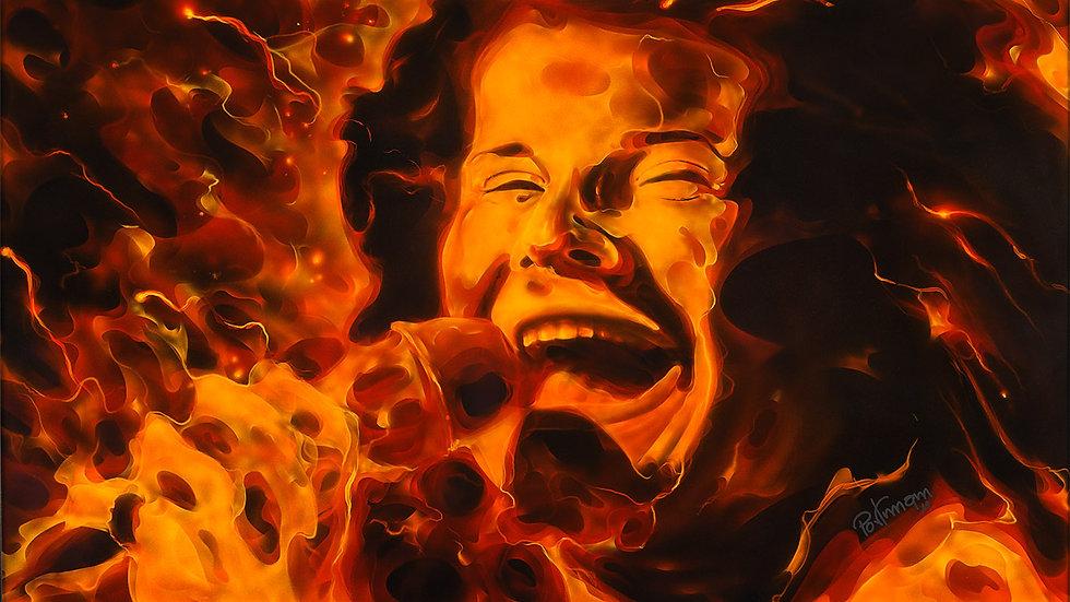 """Obra """"Fire Janis""""  (100x60cm)"""