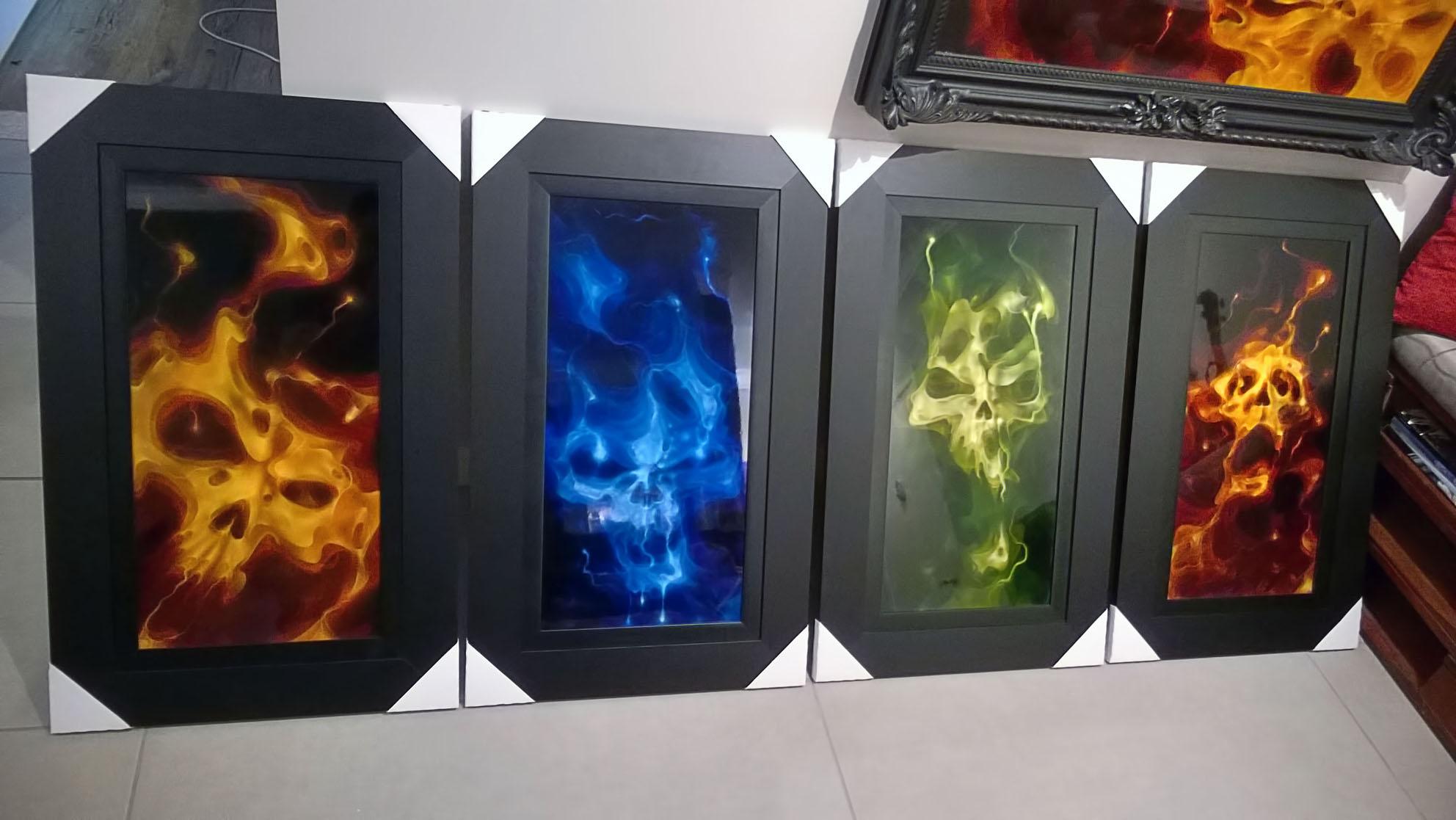 4 True Fire Skulls