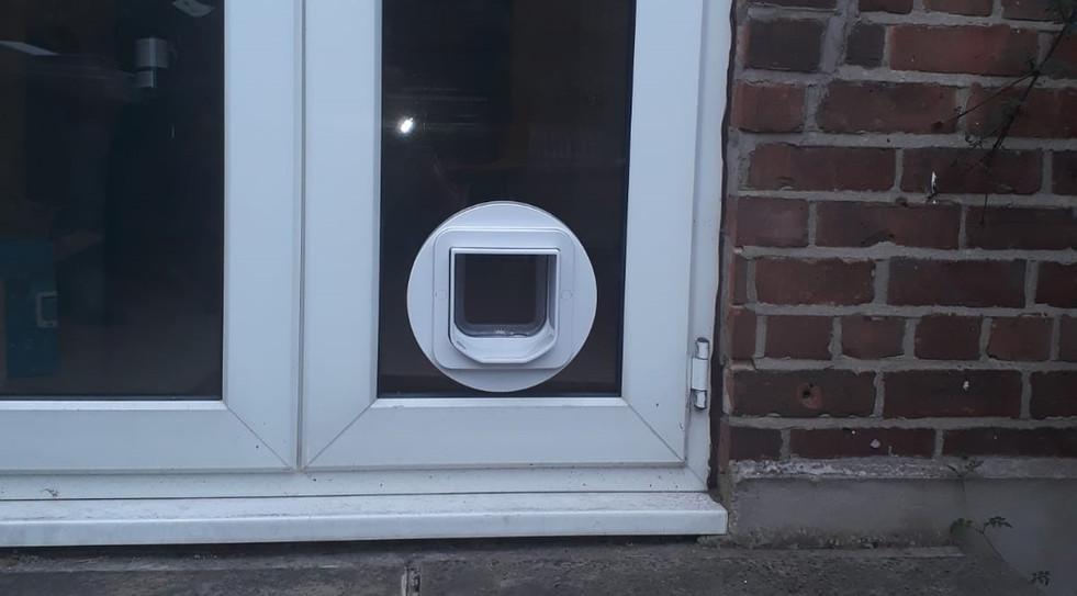 Cat Flap installed in Macclesfield