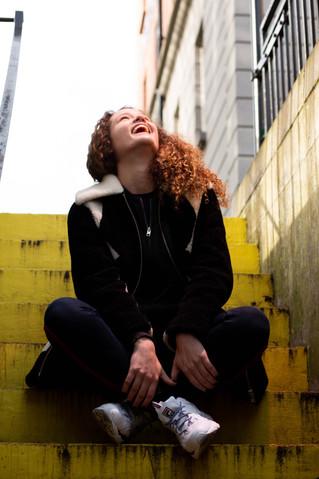 Raphaela Laughing Portrait