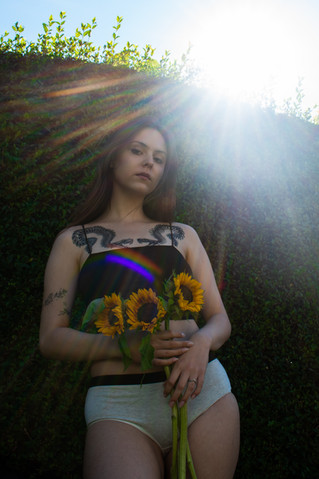 Ingrida Sunflower Portrait