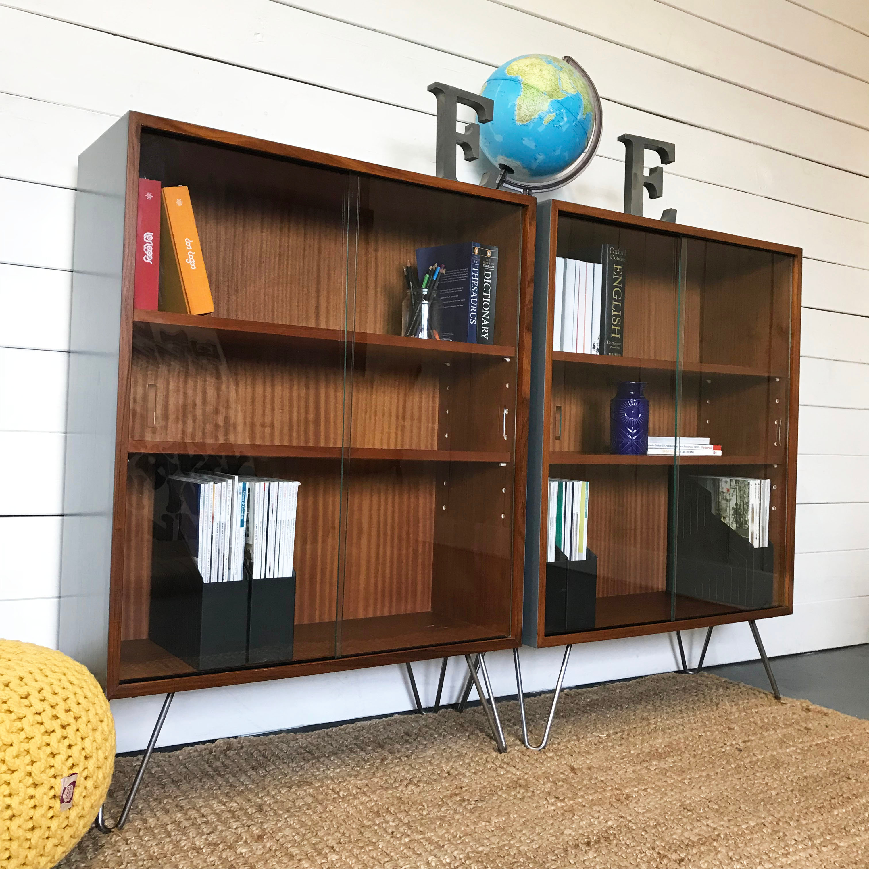 Mid Century Danish Style Teak Shelving Bookcase