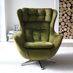 VINTAGE SWIVEL EGG CHAIR S Englishemporiumcouk Eclectic - Parker knoll egg chair