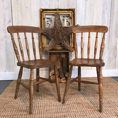 Lovely Pair Of Early English Country Chairs