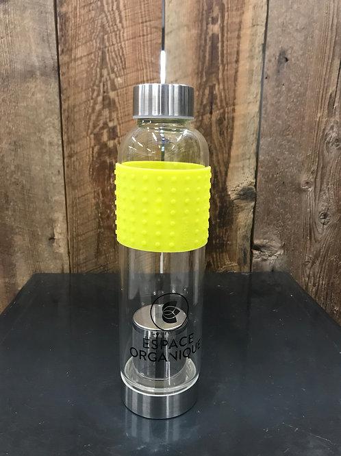Bouteille en verre avec infuseur - Espace Organique
