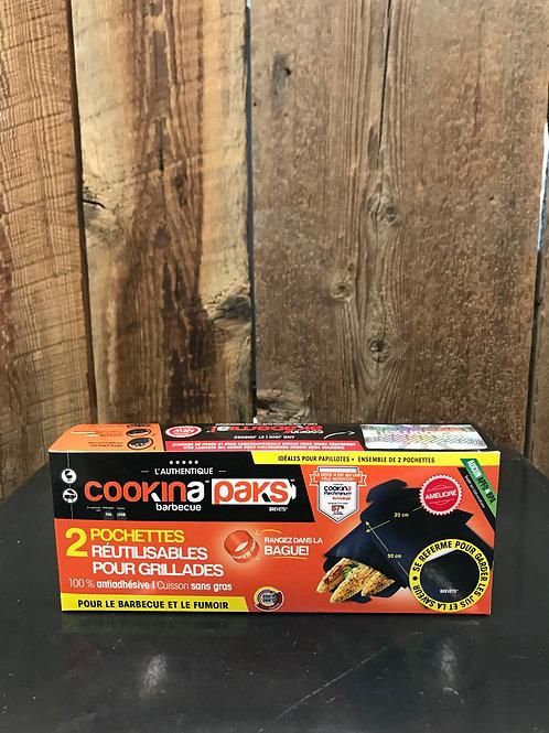 Pochettes réutilisables pour grillades - Cookina