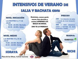 INTENSIVOS DE VERANO: SALSA Y BACHATA