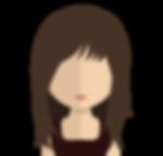 Woman Cartoon Brown Hair