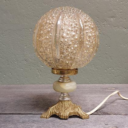 Retro bordlampe glasskuppel