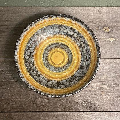 Keramikkfat gul retro