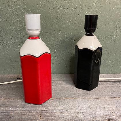 Keramikk blyantformet bordlampe