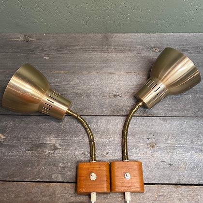 Ess Varnamo messing teak lamper