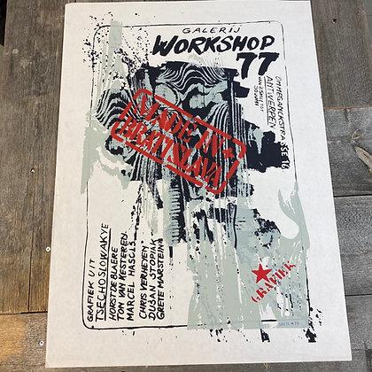 Plakat Grete Marstein Galleri workshop 77