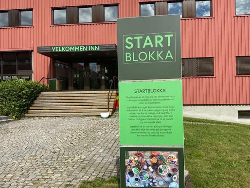 Du finner oss i Startblokka på Linderud!