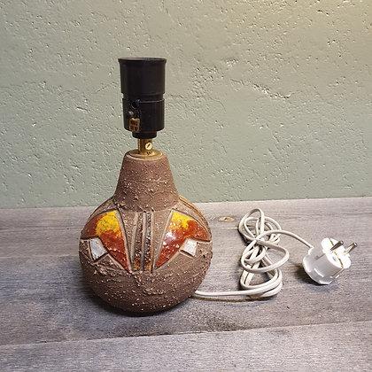 Rustikk fargesterk bordlampe keramikk