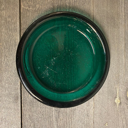 Grønnt glassfat