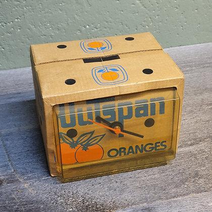 Outspan Oranges reklame klokke retro
