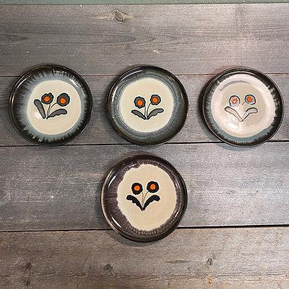 Norsk keramikk 4 tallerkener