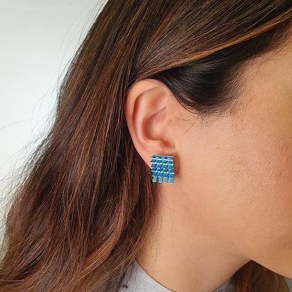 Ribbe blå ørepynt redesign